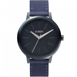Nixon Kensington Leather Watch (gray / indigo / natural)