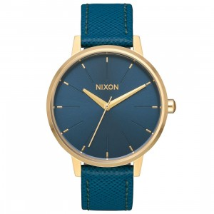 Nixon Kensington Leather Watch (gold / light / malla)