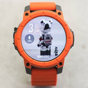 Nixon The Mission Smart Watch (orange / gray / black)