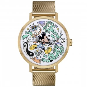 Nixon x Disney x Steven Harrington Arrow Milanese Watch - Mickey LTD Of 100 (gold)