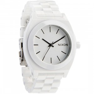 Nixon Ceramic Time Teller Watch (white)