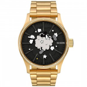 Nixon x Disney Sentry SS Gold Watch - Mickey Fight (gold / black / cloud)