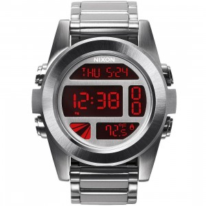 Nixon Unit SS (silver / red)