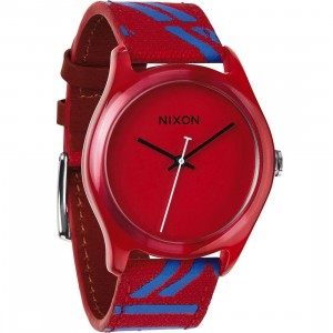 Nixon Mod Acetate Watch (red)