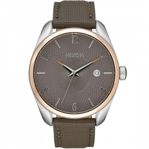 Nixon Bullet Leather Watch (gold / rose gold / taupe)