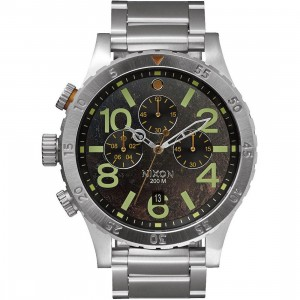 Nixon 48-20 Chrono Watch (silver / dark copper)