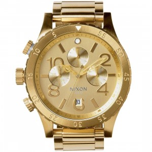 Nixon 48-20 Chrono Watch (gold / all gold)
