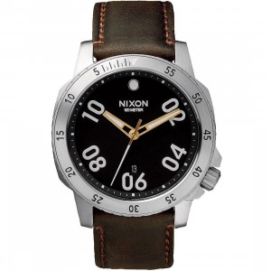 Nixon Ranger Leather Watch (black / brown)