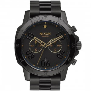 Nixon Ranger Chrono Watch (black / gold)