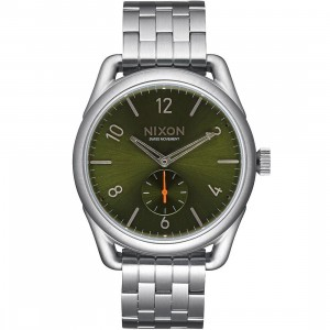 Nixon C39 SS Watch (gray / olive sunray)