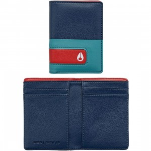 Nixon Showup Card Wallet (navy / seafoam)
