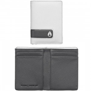 Nixon Showup Card Wallet (white / charcoal)
