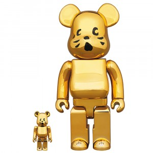PREORDER - Medicom Nya Gold Plated Ver. 100% 400% Bearbrick Figure Set (gold)