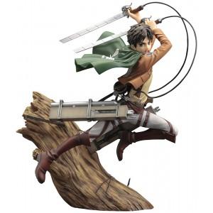 PREORDER - Kotobukiya ARTFX J Attack On Titan Eren Yeager Renewal Package Ver. Figure (brown)