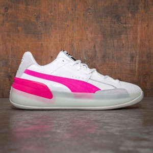 Puma Men Clyde Hardwood (white / pink)