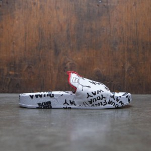 Puma x Shantell Martin Women Leadcat Graphic Slide (white / black / spiced coral)