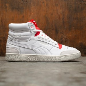 Puma Men Ralph Sampson Mid Rudolf Dassler Legacy Collection (white / high risk red / vaporous gray)