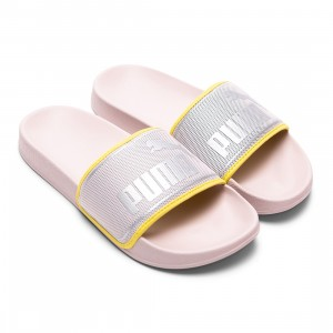 Puma Women Leadcat FTR Ocean Queen Slides (pink / cloud pink / silver)