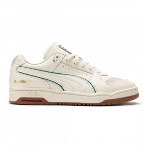 Puma x Butter Goods Men Slipstream Lo (white / whisper white / cadmium green)
