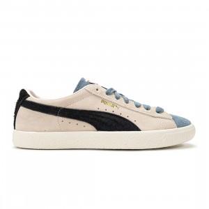 Puma Men Suede VTG WTFormstripe (white / whisper white / peyote / china blue)