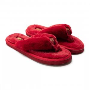 Puma Women Fluff Flip Bx Slippers (red / persian red / team gold)