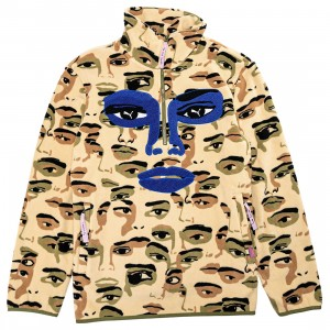 Puma x KidSuper Studios Men Fleece Half- Zip AOP Sweatshirt (khaki)