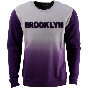 Puma x BWGH Logo Crew Sweater (gray / frost / purple)