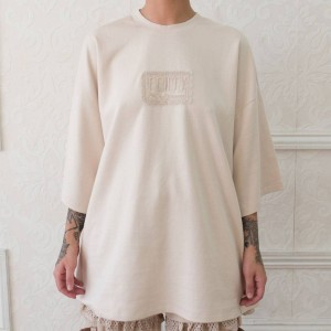 Puma x Fenty by Rihanna Women Oversized Crew Neck Tee (brown / khaki)