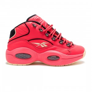 Reebok x Hot Ones Men Question Mid (red / neon cherry / black / yellow filament)