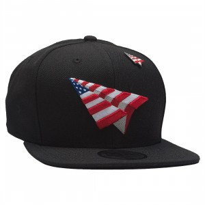 Paper Planes The Crown Snapback Cap - American Dream With Pin (black / red / white / blue)