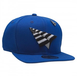 Paper Planes The Crown Snapback Cap With Pin (blue / royal)