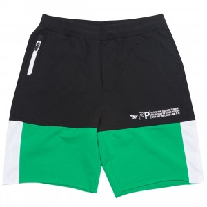 Paper Planes Men Collide Shorts (green / black)