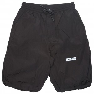 Paper Planes Men Parachute Shorts (black)