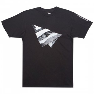 Paper Planes Men Rip and Repair Tee (black)
