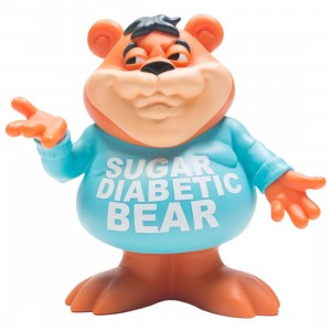 Ron English Sugar Diabetic Bear Vinyl Figure (orange)