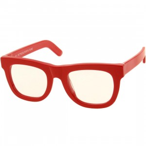 Super Sunglasses Ciccio (red / translucent / clear lenses)