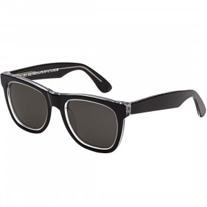 Super Sunglasses Classic Acrhomatic Sunglasses (black)