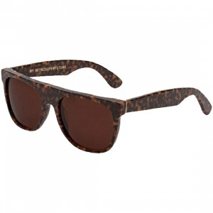 Super Sunglasses Flat Top Sunglasses (brown / havana)
