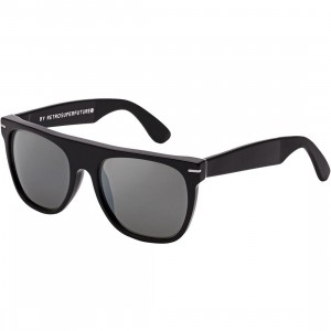 Super Sunglasses Flat Top Trireflective Sunglasses (black)