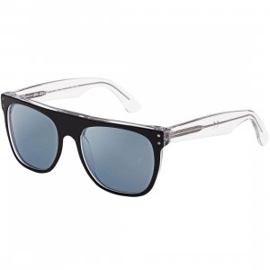Super Sunglasses Flat Top 44RU Sunglasses (black / clear)