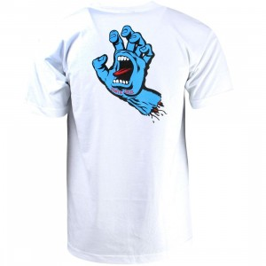 Santa Cruz Men Screaming Hand Regular Tee (white)