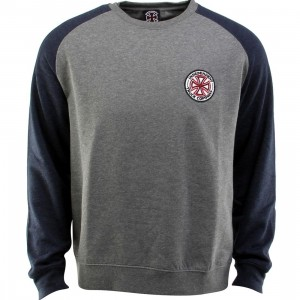 Independent RWC Patch Crewneck (gray / gunmetal heather / navy)