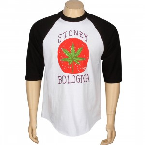 Girl Stoney Bologna Raglan Tee (black / white)