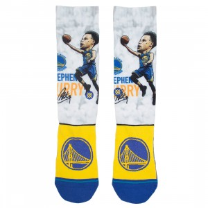 Stance x NBA Men Steph Big Head Socks (blue)