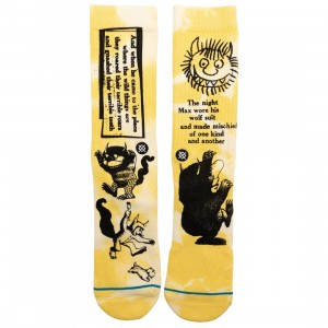 Stance x Where The Wild Things Are Men Terrible Socks (yellow)