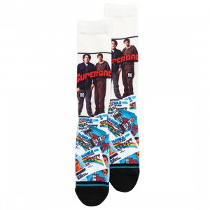 Stance x Superbad Men Superbad Socks (white / multi)