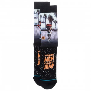 Stance x White Men Can't Jump Men Sid And Billy Socks (black)