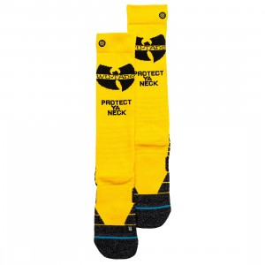 Stance x Wu Tang Men Protect Ya Neck Tall Socks (yellow)