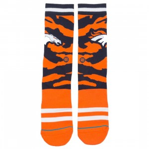 Stance x NFL Men Denver Bronco Tigerstripe Socks (orange)