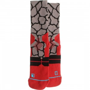 Stance Zarafa Fusion Basketball Socks (red)